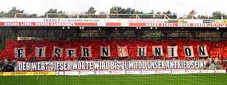 "Football chant - The supporters of the football club 1. FC Union Berlin are known for their chant ""Eisern Union"" (Iron Union)."