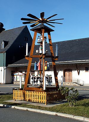 Altenberg, Saxony - Pyramid at the station