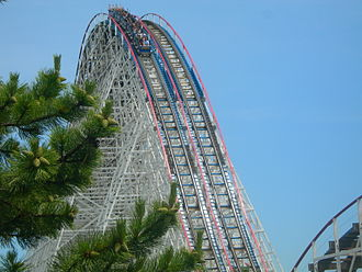 Six Flags Great America - The American Eagle was added in 1981.