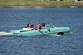 Amphicar 770 1967 NoNum Afternoon swim 02 Lake Mirror Cassic 16Oct2010 (14690819847).jpg
