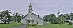 Panoramic photo St Andrews Lutheran Church, Evangelical Lutheran Church of Papua New Guinea Headquarters- Ampo