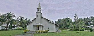 Malahang - Panoramic photo St Andrews Lutheran Church, Evangelical Lutheran Church of Papua New Guinea Headquarters- Ampo