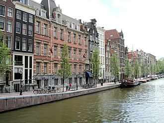 Gracht - Amsterdam, the Netherlands' capital, is known for its UNESCO-listed Grachtengordel (literally: grachten belt).