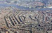 A bird's-eye view of Amsterdam's city centre
