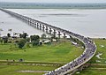 An Aerial view of the Dhola-Sadiya bridge across River Brahmaputra, inaugurated by the Prime Minister, Shri Narendra Modi, in Assam on May 26, 2017.jpg