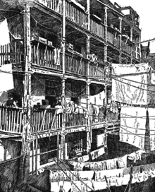 Illustration Of Riis Photograph Rear Tenements