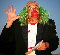 An actor characterized as Victor Trujillo's Brozo.jpg