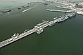 An aerial view of U.S. Navy ships moored in Manama, Bahrain, May 12, 2013, in preparation for International Mine Countermeasures Exercise (IMCMEX) 2013 130512-N-OA702-033.jpg