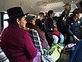 Andahuaylas Peru- typical public transport inside van.jpg