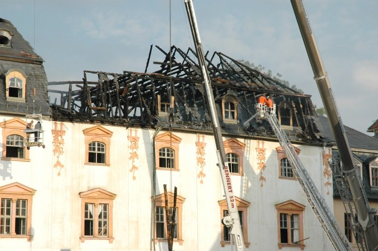 Anna amalia bibliothek weimar brandschaden 03092004 nachmittag