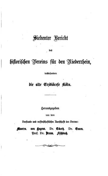 File:Annalen des Historischen Vereins für den Niederrhein 10 (1861).djvu