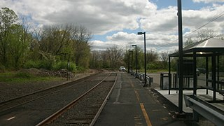 Annandale station train station in New Jersey, USA