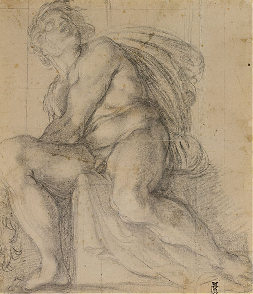 Annibale Carracci - Study for an ignudo - Google Art Project