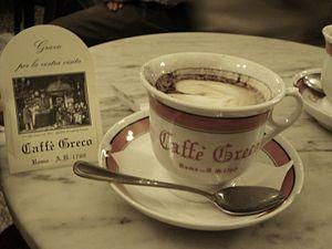 Antico Caffè Greco in Roma - Italy.