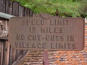 Speed limit - Historic New Hampshire speed limit sign