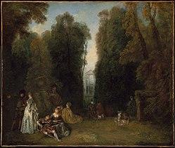 Antoine Watteau: La Perspective (View through the Trees in the Park of Pierre Crozat)