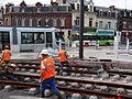 Anzin & Valenciennes - Travaux de raccordement des lignes A & B du tramway de Valenciennes à la Croix d'Anzin le 19 août 2013 (22).JPG