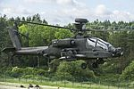 Apache Attack Helicopter from 4 Regiment Air Air Corps Taking of for mission tasking over Hohenfels Training Area MOD 45160151.jpg