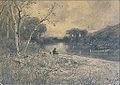 Appian A. - Charcoal - Pêcheur au bord de la rivière - 38x28cm.jpg