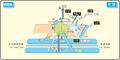 Arahata station map Nagoya subway's Tsurumai line 2014.png