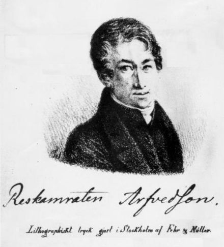Johan August Arfwedson is credited with the discovery of lithium in 1817 Arfwedson Johan A.jpg
