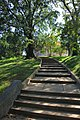 Arlington National Cemetery - looking W up Custis Walk at Arlington House 2 - 2011.jpg