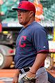 Armando Camacaro bullpen catcher Indians 2015.JPG