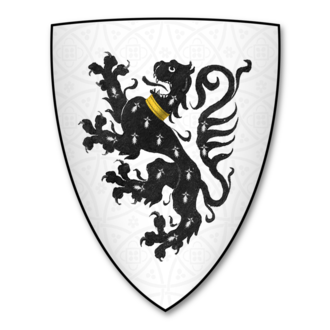 John Guillim - Arms of Guillim of Minsterworth: Argent, a lion rampant ermines collared or