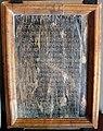 Arte augustea, elogio di quinto fabio massimo il temporeggiatore, in bronzo con cornice non pertinente.JPG