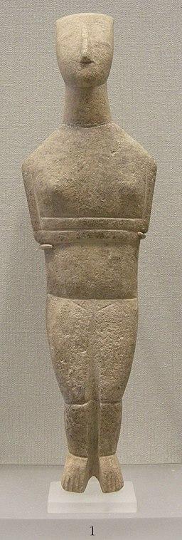 Arte greca, figurina cicladica, 2500 a.c. 01