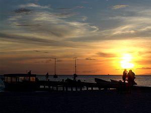 Coche Island - Sunset at Coche Island