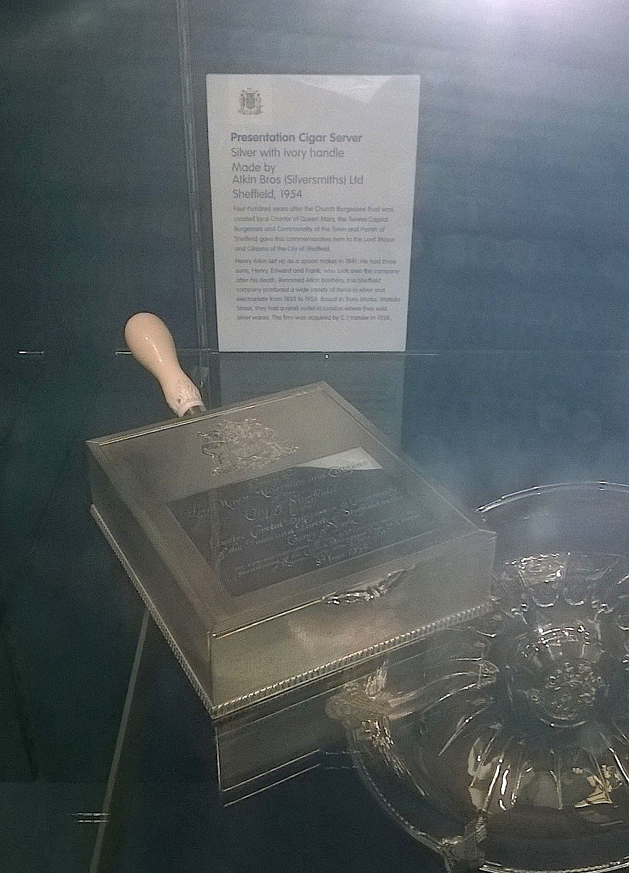 Atkin Brothers (Silversmiths) Ltd. of Sheffield - Silver on display at Sheffield Town Hall