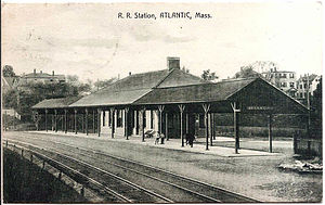 North Quincy (MBTA station) - Atlantic station on a 1910 postcard