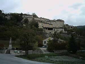Aurel, Drôme - A view of the village of Aurel