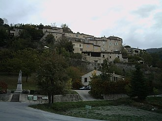 Aurel, Drôme - A view of the village of Aurel