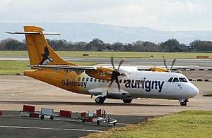 Aurigny - Aurigny's ATR 42 at Manchester