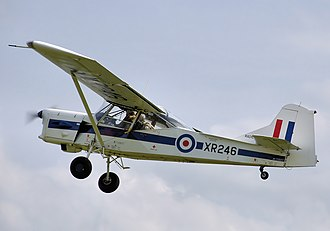 Auster AOP.9 - Privately owned 1961-built AOP.9 G-AZBU takes off in 2009