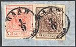 Austria 1854 3Kr and 6Kr RAAB.jpg