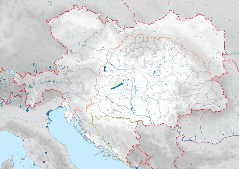 Autriche-Hongrie 1914 Localisation2.png