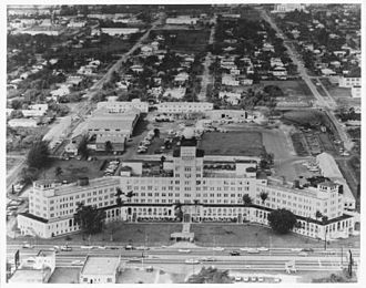 Embry–Riddle Aeronautical University - The Fritz Hotel in Miami, Florida. Embry-Riddle occupied the building prior to moving to Daytona Beach, Florida.