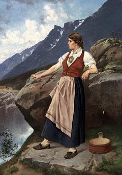 Axel Ender - Kvinne ved utsiktpost
