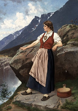 Axel Ender - Young Woman at an Overlook