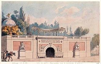 François-Joseph Bélanger - Entrance to the Jardin Beaumarchais