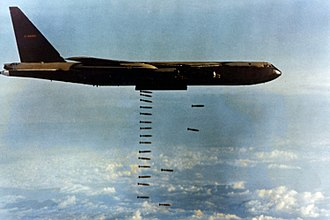 Public administration - The costly Vietnam War alienated US citizens from their government (pictured is Operation Arc Light, a US bombing operation)