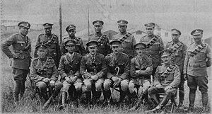 Bermuda Volunteer/Territorial Army Units 1895–1965 - Officers and senior enlisted men of the Bermuda Contingent, Royal Garrison Artillery, in Europe.