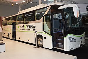BYD Auto - BYD C9, the first long range electric coach, September 2016
