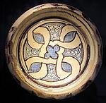Bacino ceramico da facciata del duomo di s. miniato, nord-africa, 1190 ca. 01.JPG
