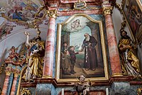 Bad Endorf Antwort Wallfahrtskirche Mariä Himmelfahrt Philipp- und Jakob-Altar Altarblatt Hl. Bruder Konrad Nahansicht 2017 10 07.jpg