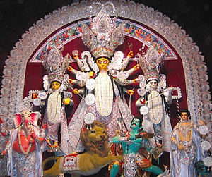 Bagbazar - Durga Puja at Bagbazar which was started in the year 1918.