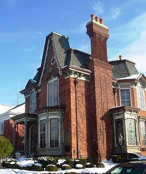 National Register of Historic Places listings in Wayne County, Michigan - Image: Baker House Plymouth Michigan